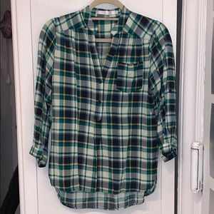 Super Soft Plaid Blouse